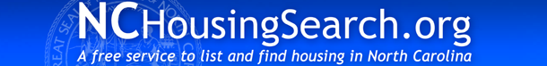 NCHousingSearch.org - a free service to list and find housing in North Carolina
